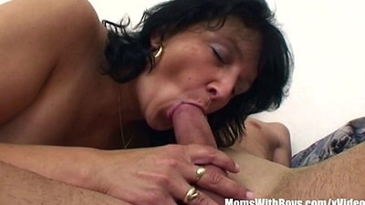 Stepson Restrained By Brunette Sultry Stepmom