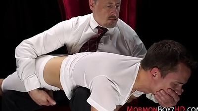 Mormon acquires ass punished
