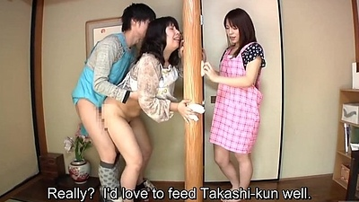 Subtitled Japanese risky mating apropos voluptuous materfamilias in law