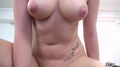 Big Titty redhead Roxy Unscrupulous Rides and Deep throats almost POV