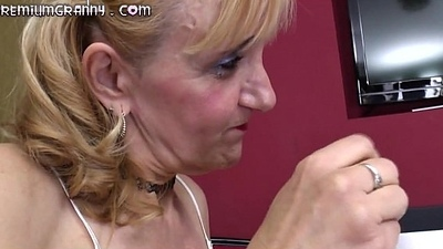 Skilled grandma cock swallower fucked in their way perfect socialistic pussy
