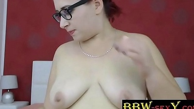 Busty BBW BellaSquirtX with XXX glasses and hairy bush - bbw-sexy.com