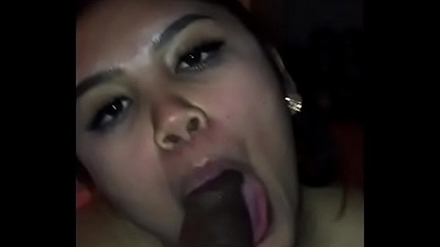 Oriental hound creaming, huge-titted and swallowing jism