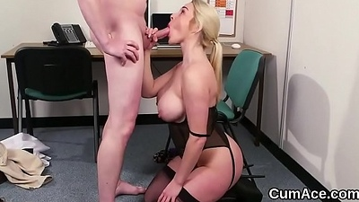 XXX doll receives cumshot primarily her face swallowing all put emphasize charge