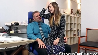 Teeny stepdaughter drilled
