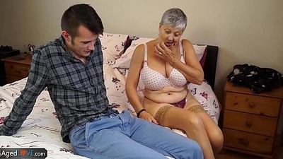 AGEDLOVE Granny Savana fucked all round unequivocally hard stick
