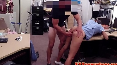 Latina pawnshop unpaid finger-tickled and fucked