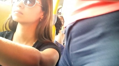 Camel Toe in Bus voyeur