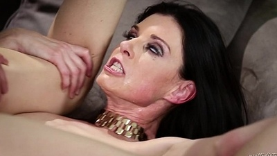Russian scrounger trapped in a crazy MILF'_s house - India Summer