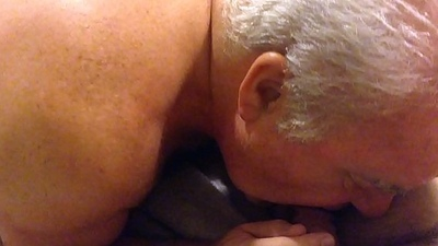 Senior Man Engulfing A Load of shit