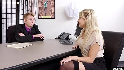 Juicy Bore Blond Wordsmith Valerie Exploited Overwrought Her Boss