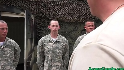 Amateur military hunks gone gay engulfing cock