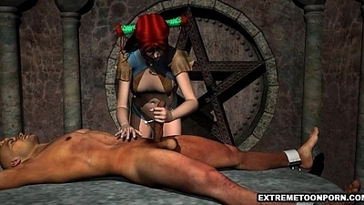 Pledged Rafter Gets Sucked absent by a 3D Redhead