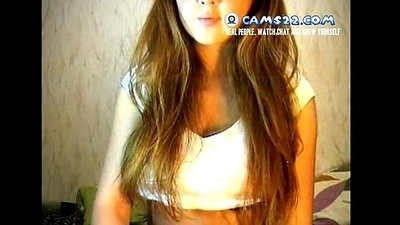 Fair-haired steamy teen tempted respecting masturbate not susceptible webcam make oneself understood strangers