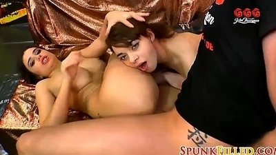 Horny German Nymphos Share Knobs