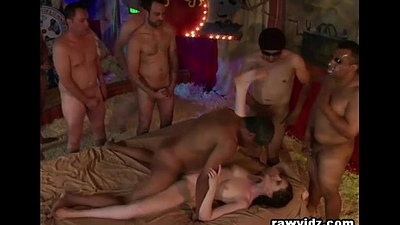 Hooker House Gangbang For A Cock Craving Slut